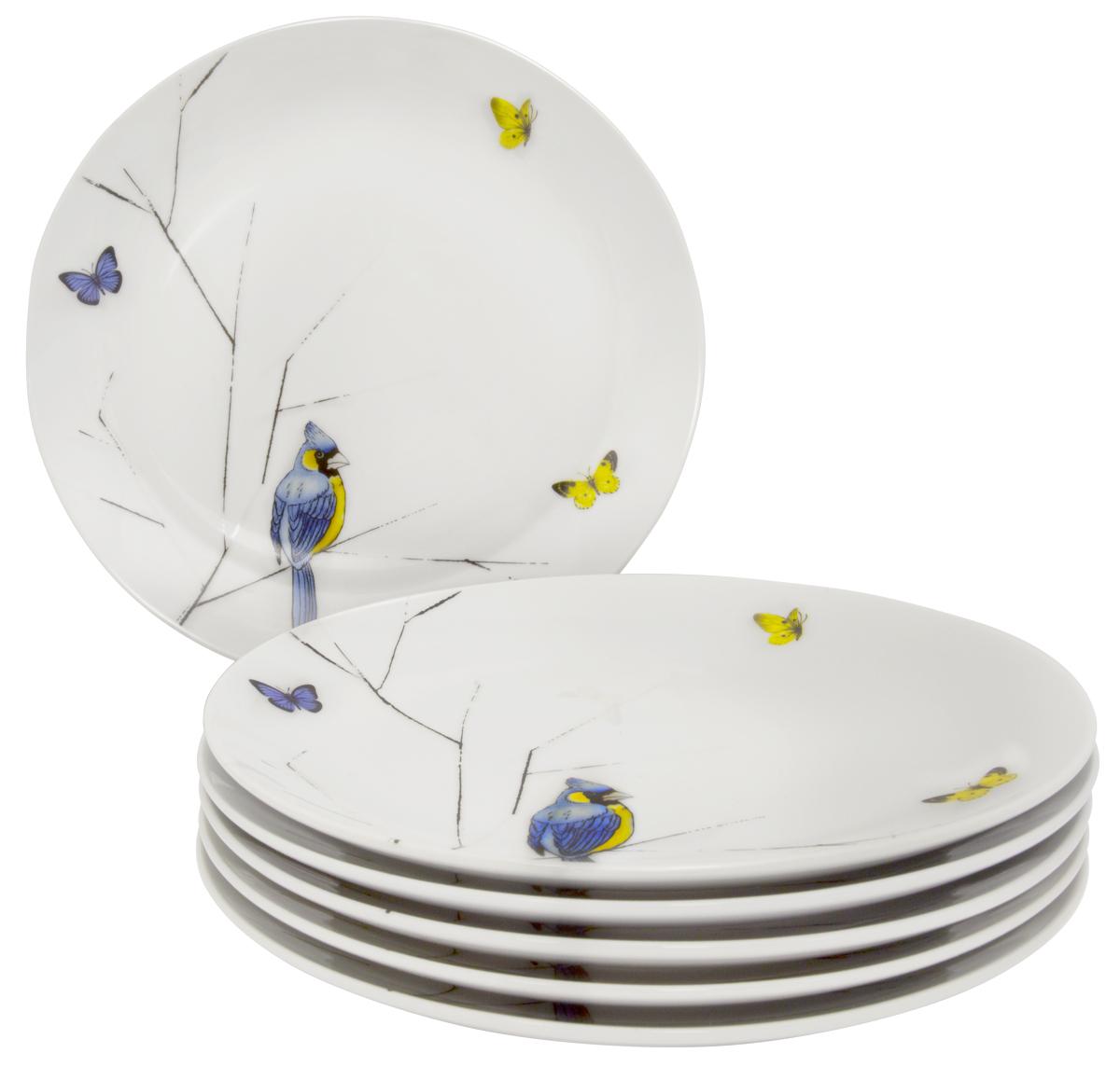 Набор обеденных тарелок Esprado Primavera, цвет: белый, черный, голубой,24,5 см, 6 шт. PRM024YE301115610Набор Esprado Primavera состоит из шести обеденных тарелок, выполненных из высококачественного твердого фарфора. Над созданием дизайна коллекций посуды из твердого фарфора Esprado работает международная команда высококлассных дизайнеров, не только воплощающих в жизнь все новейшие тренды, но также и придерживающихся многовековых традиций при создании классических коллекций. Посуда из твердого фарфора будет идеальным выбором, для тех, кто предпочитает красивую современную посуду из высококачественного материала, которая отличается высокой прочностью и подходит для ежедневного использования.