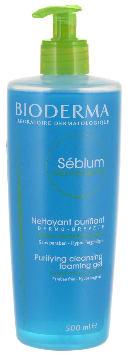 Bioderma Очищающий мусс Sebium, 500 млB028664IМягко очищает и улучшает качество себума.