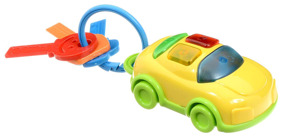 1TOY Развивающая игрушка Автоключики с машинкой цвет желтый, Solmar Pte Ltd