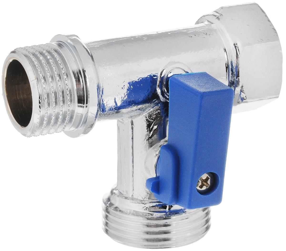 Кран шаровый Fornara, трехпроходной, г - ш - ш, 1/2 x 3/4 х 1/2059D-D-ITCOШаровый трехпроходной кран Fornara предназначен для подключения стиральных и посудомоечных машин, без изменения существующей разводки водоснабжения. Может устанавливаться, например, на отводе для наполнения унитаза, или на отводе воды для кухонного смесителя, где благодаря данному крану появляется дополнительный, перекрываемый отвод для подключения стиральной или посудомоечной машины.