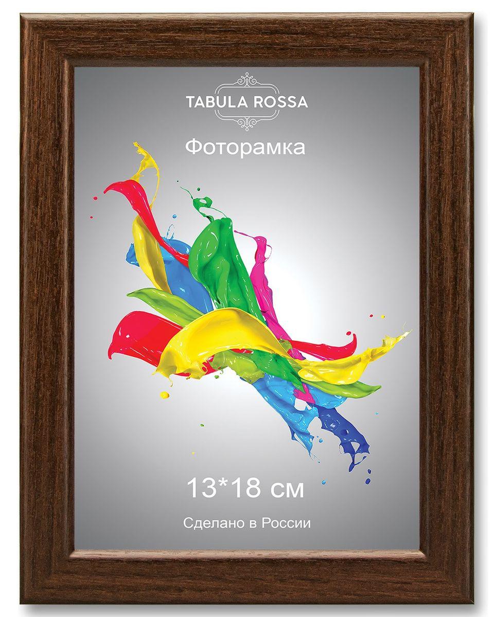 Фоторамка Tabula Rossa, цвет: венге, 13 х 18 см. ТР 5027BBM46200/2/052_коричневыйФоторамка Tabula Rossa выполнена в классическом стиле из высококачественного МДФ и стекла, защищающего фотографию. Оборотная сторона рамки оснащена специальной ножкой, благодаря которой ее можно поставить на стол или любое другое место в доме или офисе. Также изделие дополнено двумя специальными креплениями для подвешивания на стену.Такая фоторамка не теряет своих свойств со временем, не деформируется и не выцветает. Она поможет вам оригинально и стильно дополнить интерьер помещения, а также позволит сохранить память о дорогих вам людях и интересных событиях вашей жизни.