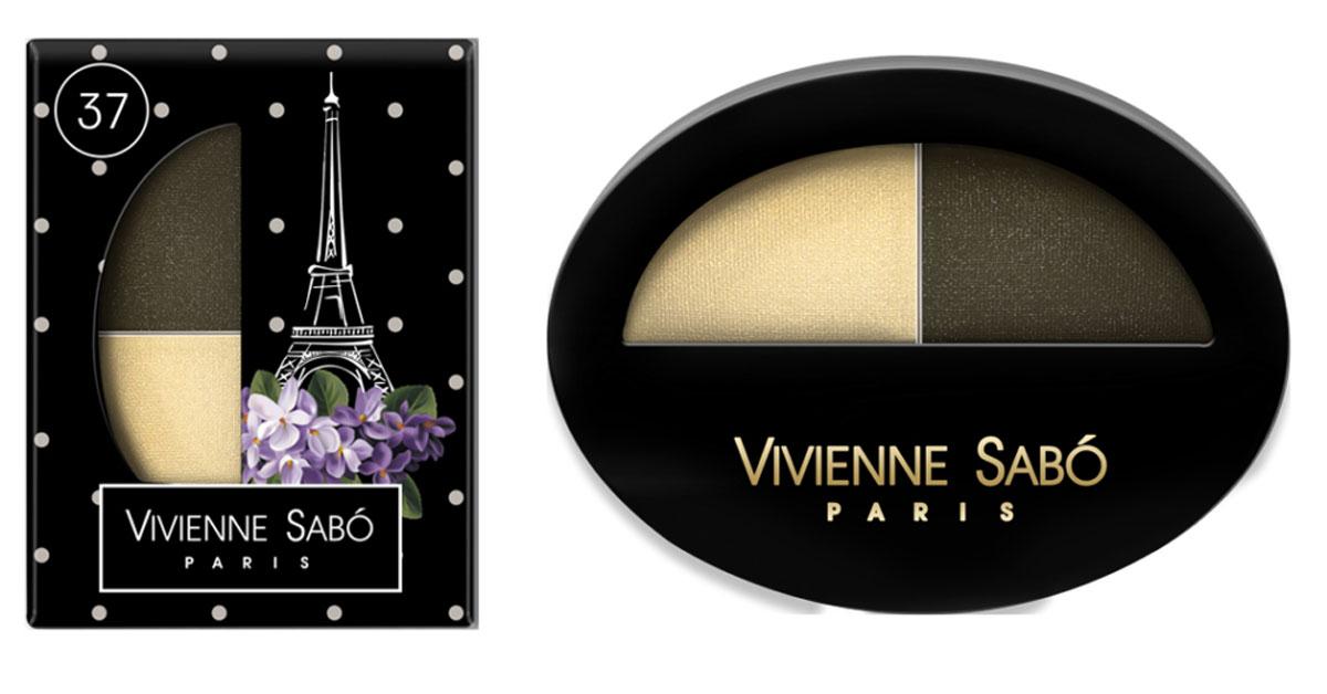 Vivienne Sabo Тени для век двойные Jeter du Chic , тон 37, 2 x 0,8 гD215225137