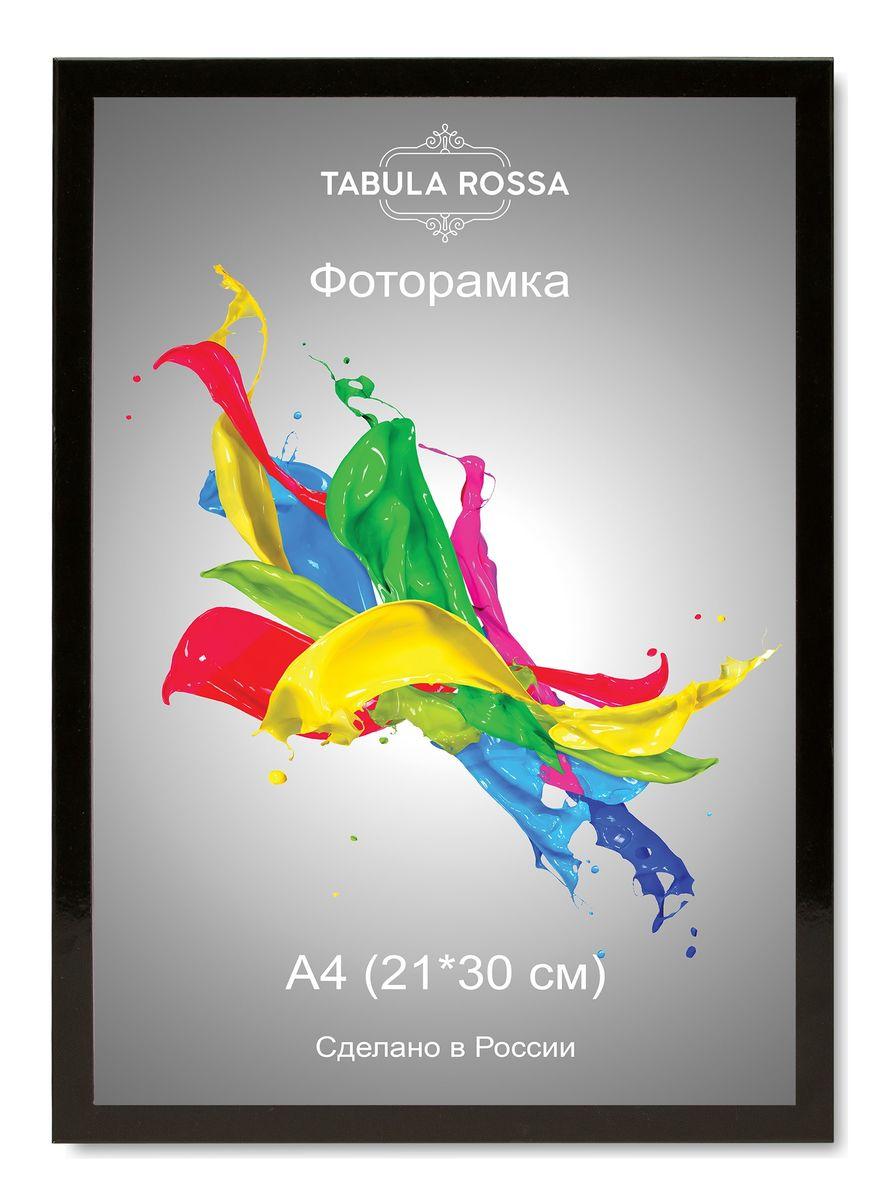 Фоторамка Tabula Rossa, цвет: черный глянец, 21 х 30 см. ТР 6011 фоторамка tabula rossa металлик цвет серебристый 21 х 30 см