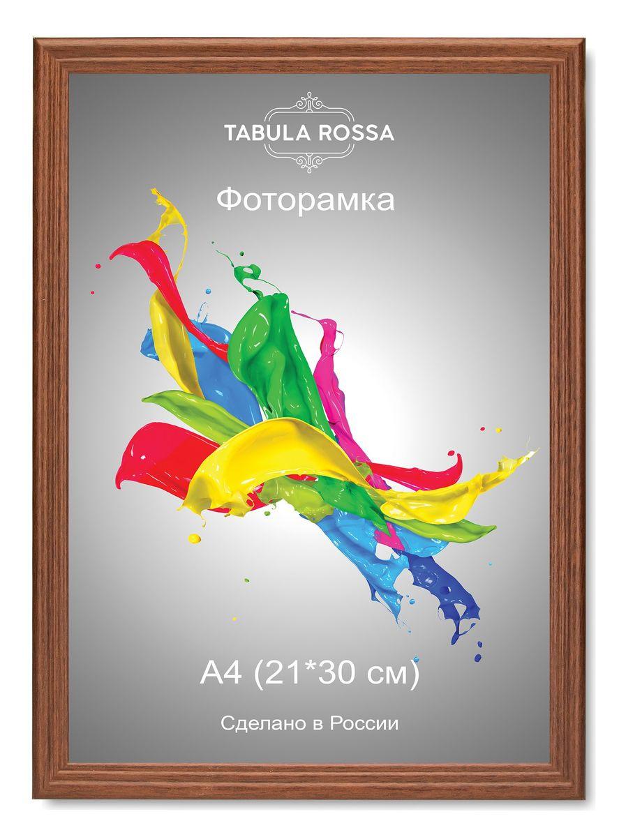 Фоторамка Tabula Rossa, цвет: орех, 21 х 30 см. ТР 6017CHK-036Фоторамка Tabula Rossa выполнена в классическом стиле из высококачественного МДФ и стекла, защищающего фотографию. Оборотная сторона рамки оснащена специальной ножкой, благодаря которой ее можно поставить на стол или любое другое место в доме или офисе. Также изделие дополнено двумя специальными креплениями для подвешивания на стену.Такая фоторамка не теряет своих свойств со временем, не деформируется и не выцветает. Она поможет вам оригинально и стильно дополнить интерьер помещения, а также позволит сохранить память о дорогих вам людях и интересных событиях вашей жизни.