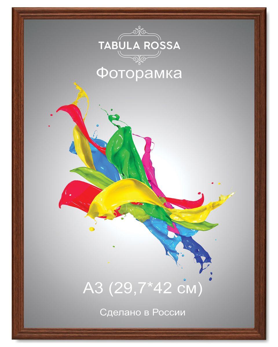 Фоторамка Tabula Rossa, цвет: орех, 29,7 х 42 см. ТР 6018FS-80299Фоторамка Tabula Rossa выполнена в классическом стиле из высококачественного МДФ и стекла, защищающего фотографию. Оборотная сторона рамки оснащена специальной ножкой, благодаря которой ее можно поставить на стол или любое другое место в доме или офисе. Также изделие дополнено двумя специальными креплениями для подвешивания на стену.Такая фоторамка не теряет своих свойств со временем, не деформируется и не выцветает. Она поможет вам оригинально и стильно дополнить интерьер помещения, а также позволит сохранить память о дорогих вам людях и интересных событиях вашей жизни.