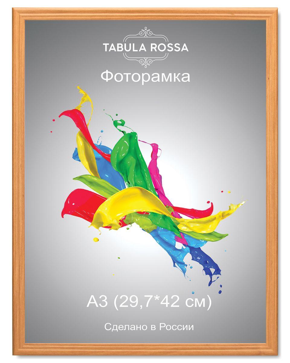 Фоторамка Tabula Rossa, цвет: ольха, 29,7 х 42 см. ТР 6021NLED-441-7W-BKФоторамка Tabula Rossa выполнена в классическом стиле из высококачественного МДФ и стекла, защищающего фотографию. Оборотная сторона рамки оснащена специальной ножкой, благодаря которой ее можно поставить на стол или любое другое место в доме или офисе. Также изделие дополнено двумя специальными креплениями для подвешивания на стену.Такая фоторамка не теряет своих свойств со временем, не деформируется и не выцветает. Она поможет вам оригинально и стильно дополнить интерьер помещения, а также позволит сохранить память о дорогих вам людях и интересных событиях вашей жизни.