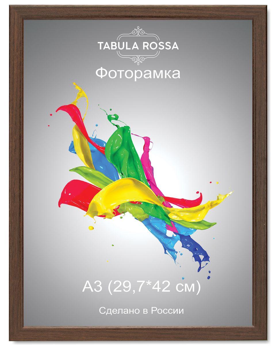 Фоторамка Tabula Rossa, цвет: венге, 29,7 х 42 см. ТР 6030ТР 5023Фоторамка Tabula Rossa выполнена в классическом стиле из высококачественного МДФ и стекла, защищающего фотографию. Оборотная сторона рамки оснащена специальной ножкой, благодаря которой ее можно поставить на стол или любое другое место в доме или офисе. Также изделие дополнено двумя специальными креплениями для подвешивания на стену.Такая фоторамка не теряет своих свойств со временем, не деформируется и не выцветает. Она поможет вам оригинально и стильно дополнить интерьер помещения, а также позволит сохранить память о дорогих вам людях и интересных событиях вашей жизни.