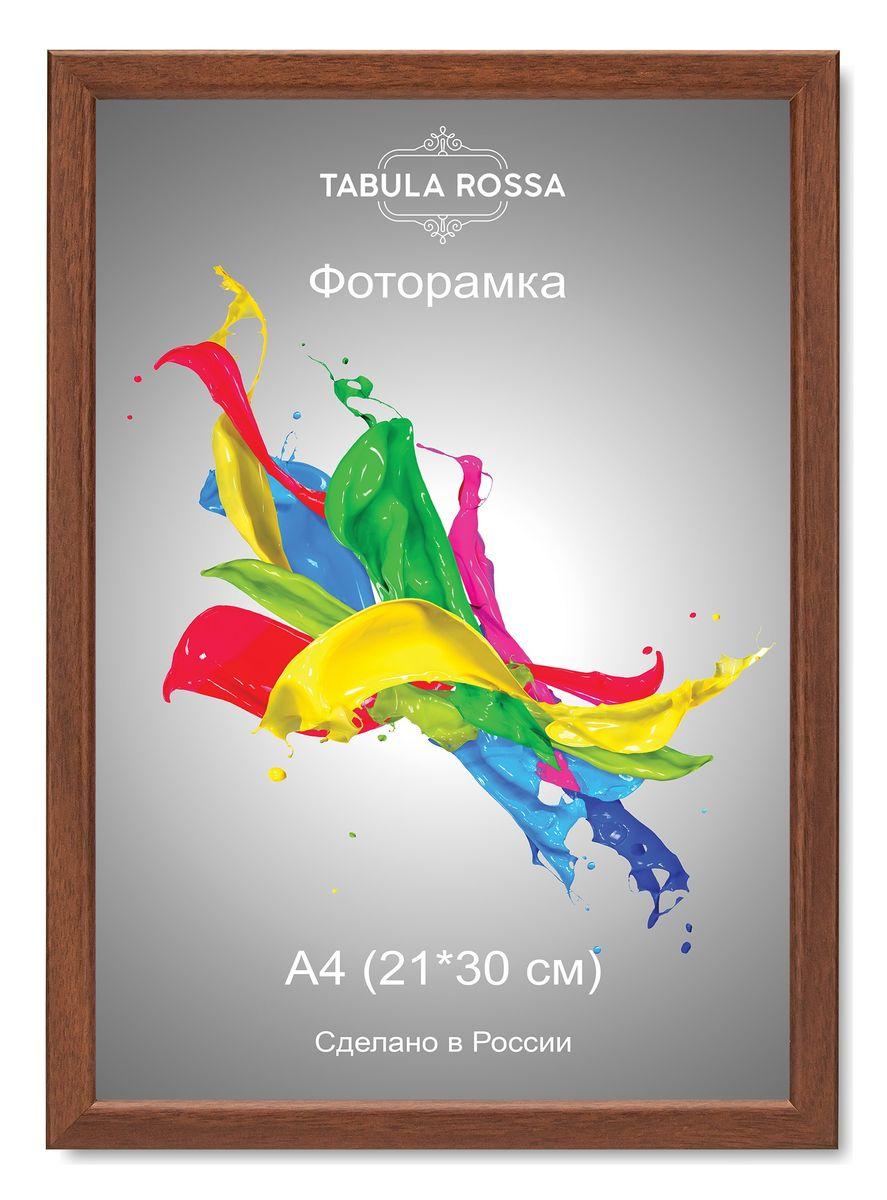 Фоторамка Tabula Rossa, цвет: орех, 21 х 30 см. ТР 603838195Фоторамка Tabula Rossa выполнена в классическом стиле из высококачественного МДФ и стекла, защищающего фотографию. Оборотная сторона рамки оснащена специальной ножкой, благодаря которой ее можно поставить на стол или любое другое место в доме или офисе. Также изделие дополнено двумя специальными креплениями для подвешивания на стену.Такая фоторамка не теряет своих свойств со временем, не деформируется и не выцветает. Она поможет вам оригинально и стильно дополнить интерьер помещения, а также позволит сохранить память о дорогих вам людях и интересных событиях вашей жизни.