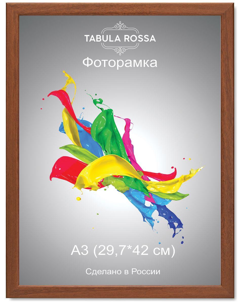 Фоторамка Tabula Rossa, цвет: орех, 29,7 х 42 см. ТР 603941280Фоторамка Tabula Rossa выполнена в классическом стиле из высококачественного МДФ и стекла, защищающего фотографию. Оборотная сторона рамки оснащена специальной ножкой, благодаря которой ее можно поставить на стол или любое другое место в доме или офисе. Также изделие дополнено двумя специальными креплениями для подвешивания на стену.Такая фоторамка не теряет своих свойств со временем, не деформируется и не выцветает. Она поможет вам оригинально и стильно дополнить интерьер помещения, а также позволит сохранить память о дорогих вам людях и интересных событиях вашей жизни.
