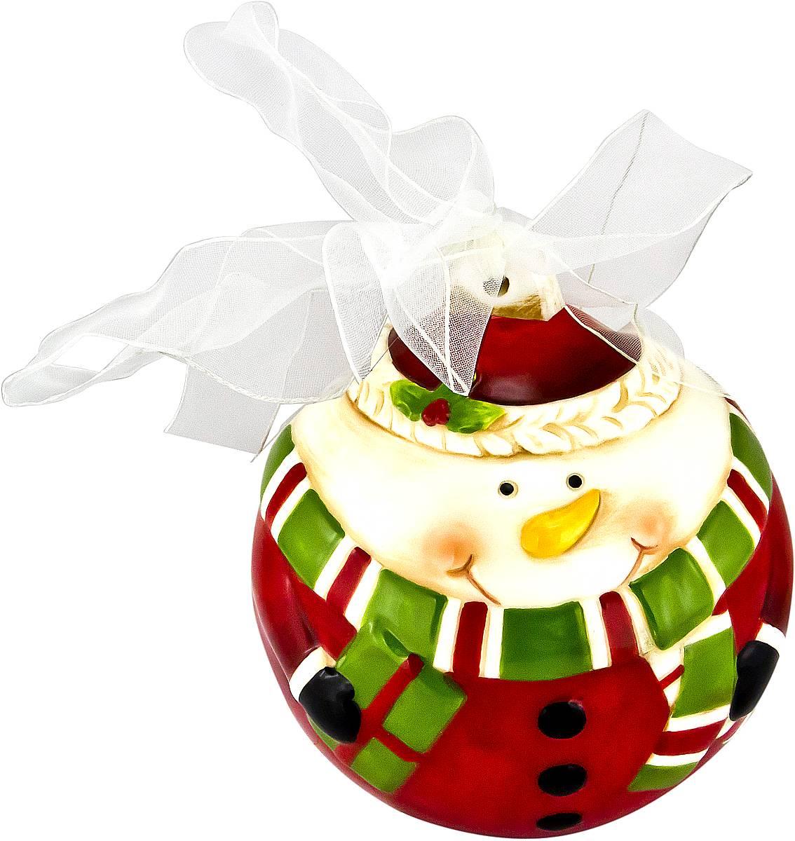 Украшение новогоднее подвесное Mister Christmas Снеговик, длина 13,5 см09840-20.000.00Новогоднее подвесное украшение Mister Christmas Снеговик прекрасно подойдет для праздничного декора новогодней ели. Украшение выполнено из керамики. Для удобного размещения на елке предусмотрена петелька в виде ленточки. Елочная игрушка - символ Нового года. Она несет в себе волшебство и красоту праздника. Создайте в своем доме атмосферу веселья и радости, украшая новогоднюю елку нарядными игрушками, которые будут из года в год накапливать теплоту воспоминаний.