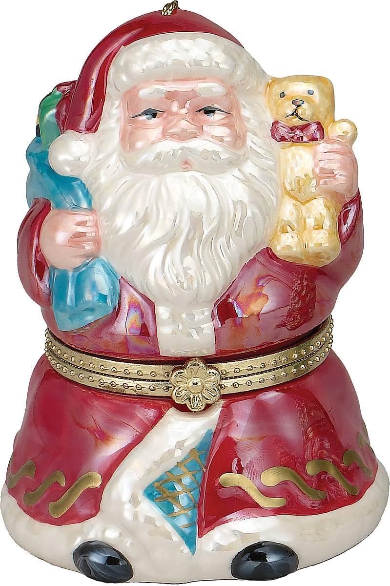 Композиция музыкальная Mister Christmas Дед Мороз, высота 11 смMB860Новогодняя музыкальная композиция Mister Christmas Дед Мороз станет оригинальным презентом на праздник. Внутри сувенира разворачивается анимированная новогодняя сценка, которая сопровождается приятной рождественской мелодией. Сувенир сделан исключительно из качественных материалов и покрыт стойкими красками. Новогодние украшения всегда несут в себе волшебство и красоту праздника. Создайте в своем доме атмосферу тепла, веселья и радости, украшая его всей семьей.Высота композиции: 11 см.
