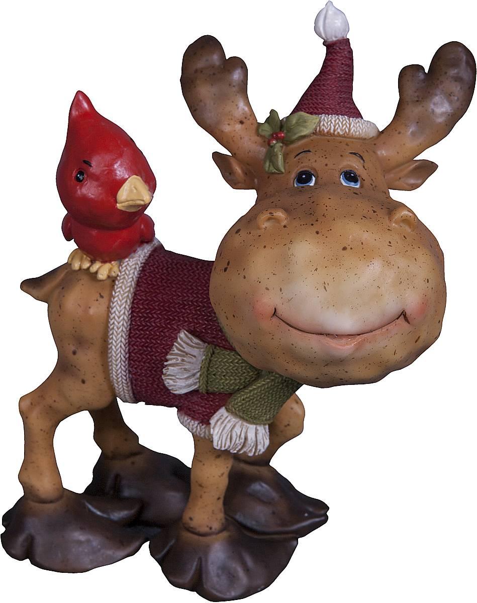 Статуэтка Mister Christmas Северный олень, высота 14 см41619Статуэтка Mister Christmas Северный олень выполнена из полистоуна в виде забавного северного оленя с птичкой. Она привлекает к себе внимание и буквально умиляет, заставляя улыбнуться.Такой сувенир станет отличным подарком родным или друзьям на Новый год, а также он украсит интерьер вашего дома или офиса.Высота статуэтки: 14 см.