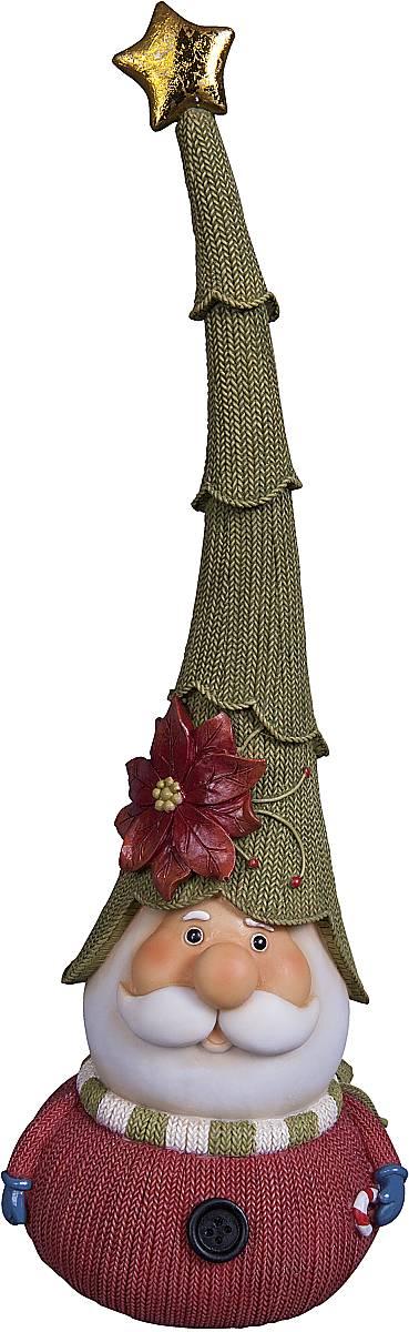 Статуэтка Mister Christmas Дед Мороз, высота 31 смБрелок для ключейСтатуэтка Mister Christmas Дед Мороз выполнена из полистоуна в виде милого Деда Мороза. Она привлекает к себе внимание и буквально умиляет, заставляя улыбнуться.Такой сувенир станет отличным подарком родным или друзьям на Новый год, а также он украсит интерьер вашего дома или офиса.Высота статуэтки: 31 см.