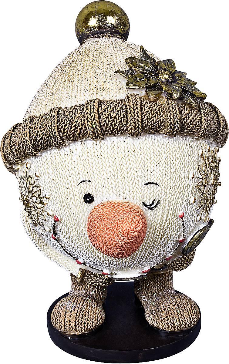 Статуэтка Mister Christmas Снеговик, высота 13 см41619Статуэтка Mister Christmas Снеговик выполнена из полистоуна в виде забавного снеговика. Она привлекает к себе внимание и буквально умиляет, заставляя улыбнуться.Такой сувенир станет отличным подарком родным или друзьям на Новый год, а также он украсит интерьер вашего дома или офиса.Высота статуэтки: 13 см.