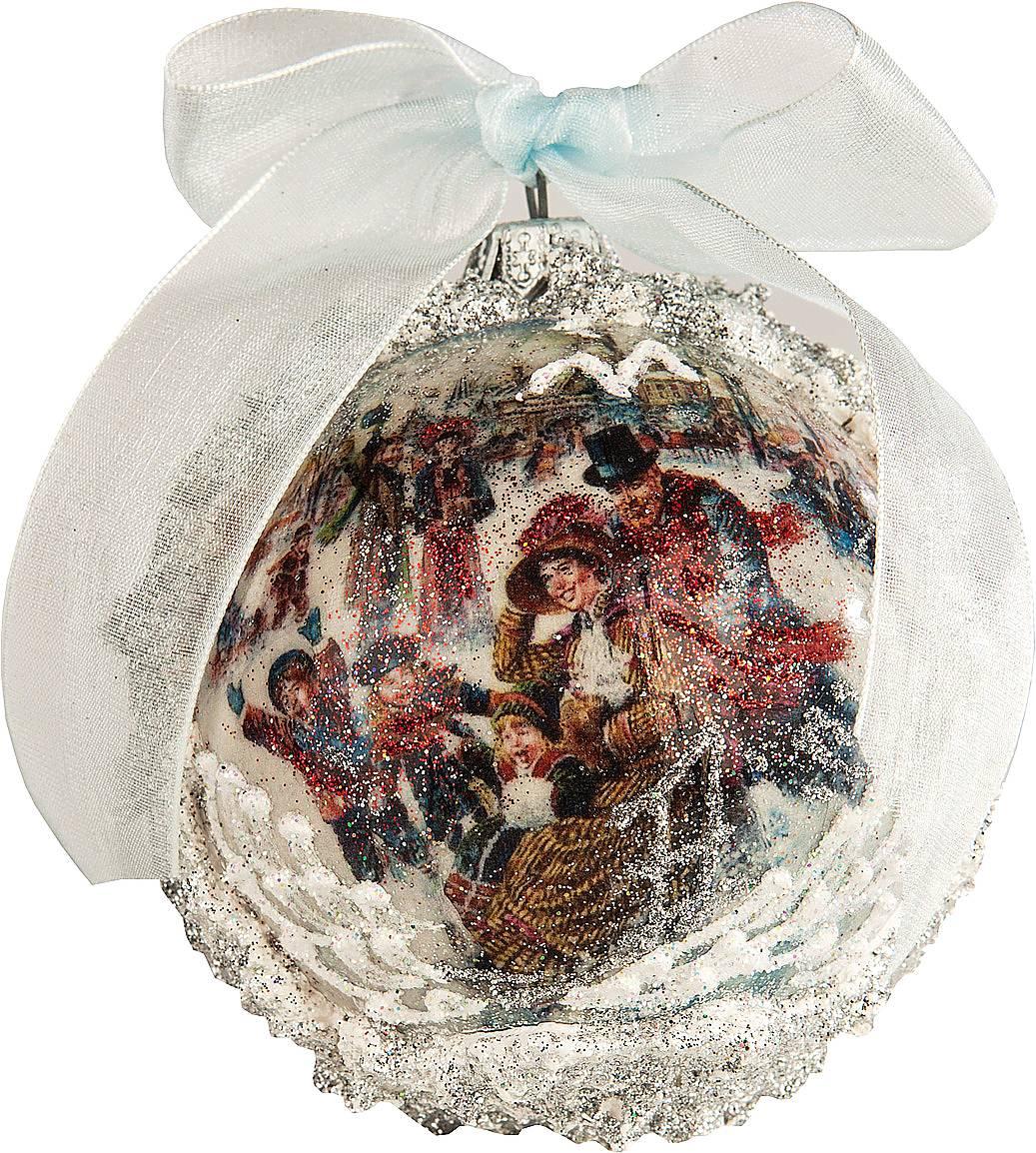 Украшение новогоднее подвесное Mister Christmas Коллекционный шар, диаметр 8 см74899Подвесное украшение Mister Christmas Коллекционный шар имеет оригинальный дизайн и превосходное исполнение. Изделие выполнено из ПВХ. В качестве дополнительного декора были использованы блестки. Для удобного размещения на елке предусмотрена петелька.Такое украшение станет замечательным новогодним подарком, который никого не оставит равнодушным.