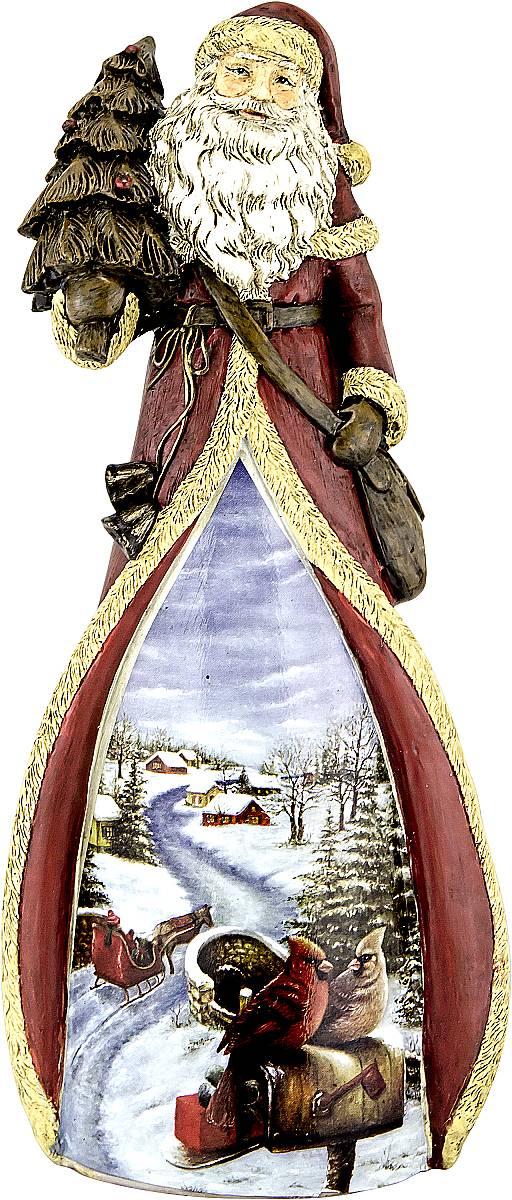 Фигурка новогодняя декоративная Mister Christmas Дед Мороз, высота 22 смNLED-454-9W-BKДекоративная фигурка Дед Мороз изготовлена из полистоуна в виде Деда Мороза с елкой. На украшение нанесен яркий новогодний рисунок. Фигурка является эксклюзивной, так как сделана вручную. Такое фигурка станет украшением для новогодней елки, да и просто, для создания праздничной атмосферыв интерьере! Оригинальный дизайн и красочное исполнение создадут праздничное настроение. Порадуйте своих друзей и близких этим замечательным подарком!Высота фигурки: 22 см.