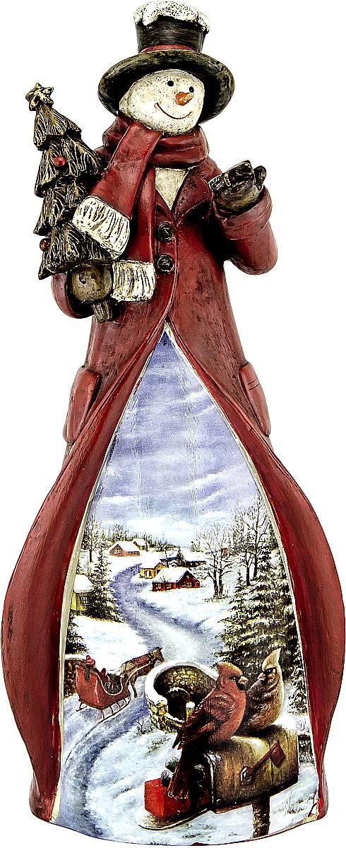 Украшение новогоднее декоративное Mister Christmas Снеговик, высота 22 см6963Украшение новогоднее декоративное Mister Christmas Снеговик прекрасно подойдет для праздничного декора вашего дома. Изделие выполнено из полистоуна. Новогодние украшения несут в себе волшебство и красоту праздника. Они помогут вам украсить дом к предстоящим праздникам и оживить интерьер. Создайте в доме атмосферу тепла, веселья и радости, украшая его всей семьей.Кроме того, такая игрушка станет приятным подарком, который надолго сохранит память этого волшебного времени года.