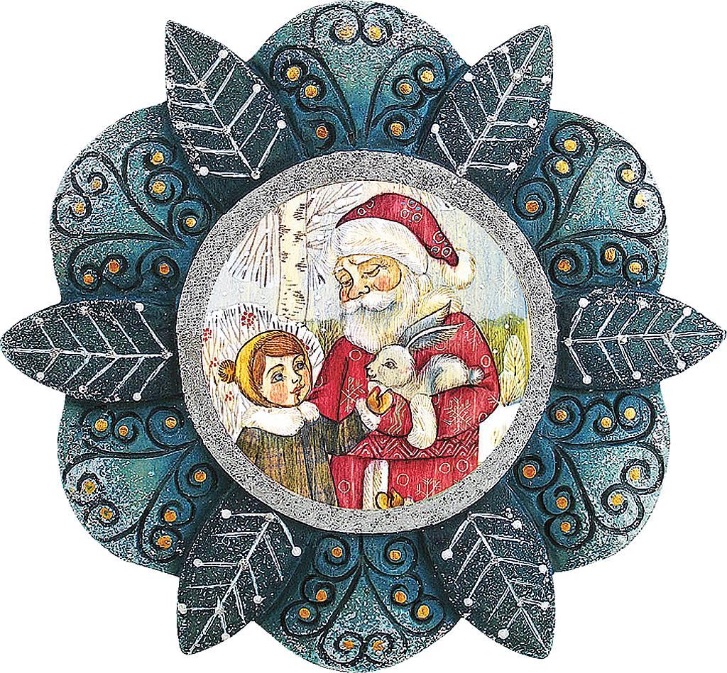 Украшение новогоднее подвесное Mister Christmas Дед Мороз, малыш и заяц, коллекционное, высота 10 см. US 6102184K100Украшение Mister Christmas Дед Мороз, малыш и заяц будет изящно смотреться на фоне зеленой хвои, будь она настоящей или искусственной. Изделие выполнено из полистоуна и дополнено надежным креплением, за счёт которого игрушка фиксируется на елке. Новогоднее украшение Mister Christmas оформит интерьер вашего дома или офиса в преддверии Нового года. А также станет отличным решением новогоднего подарка для ваших друзей и коллег.Высота: 10 см.