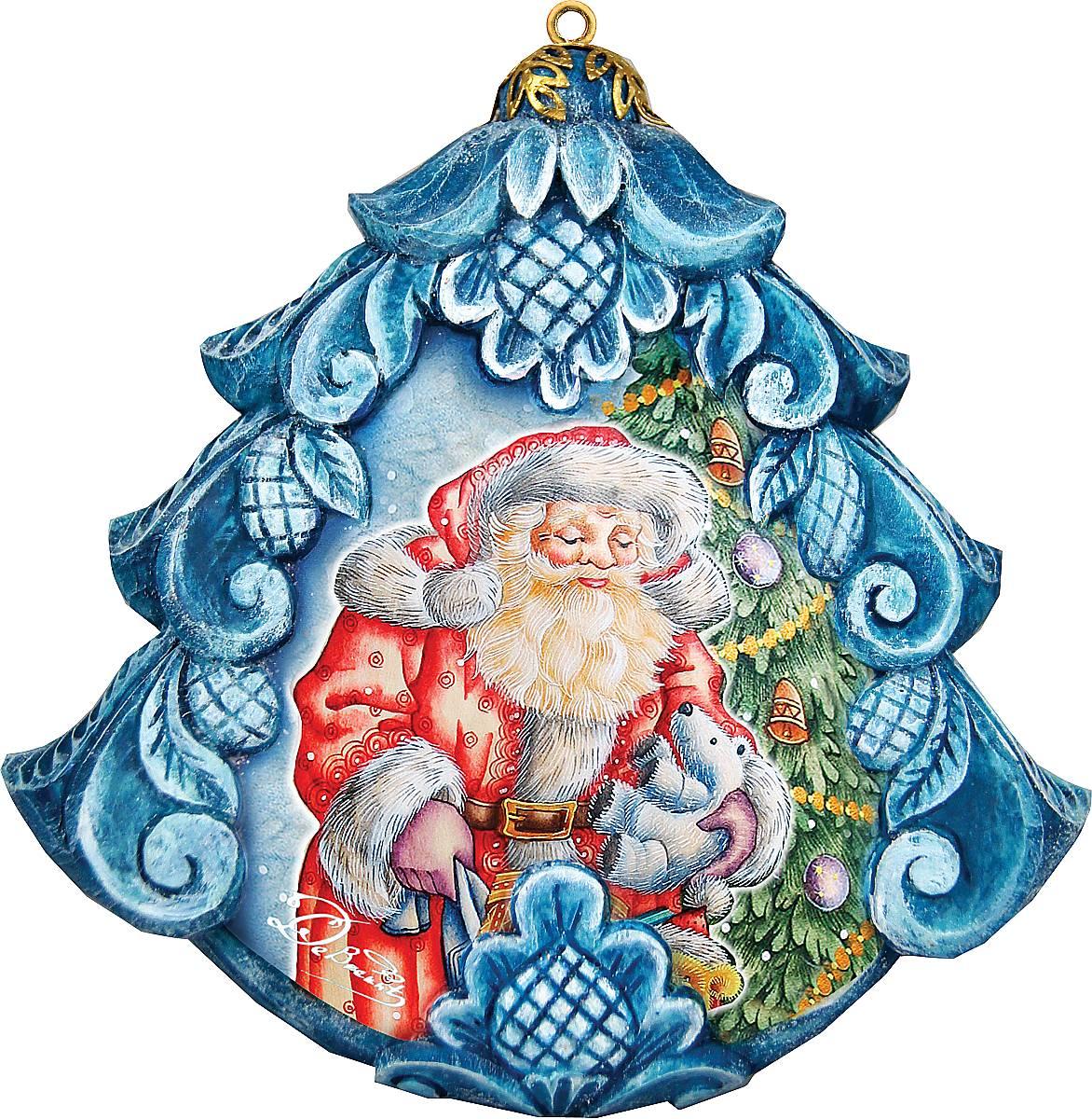 Украшение новогоднее подвесное Mister Christmas, коллекционное, высота 10 см. US 610271RW004-7-01Коллекционное украшение Mister Christmas прекрасно подойдет для праздничного декора вашего дома. Изделие выполнено из полистоуна и оснащено креплением для подвешивания на елку. Новогодние украшения несут в себе волшебство и красоту праздника. Они помогут вам украсить дом к предстоящим праздникам и оживить интерьер. Создайте в доме атмосферу тепла, веселья и радости, украшая его всей семьей.Кроме того, такая игрушка станет приятным подарком, который надолго сохранит память этого волшебного времени года.Высота украшения: 10 см.