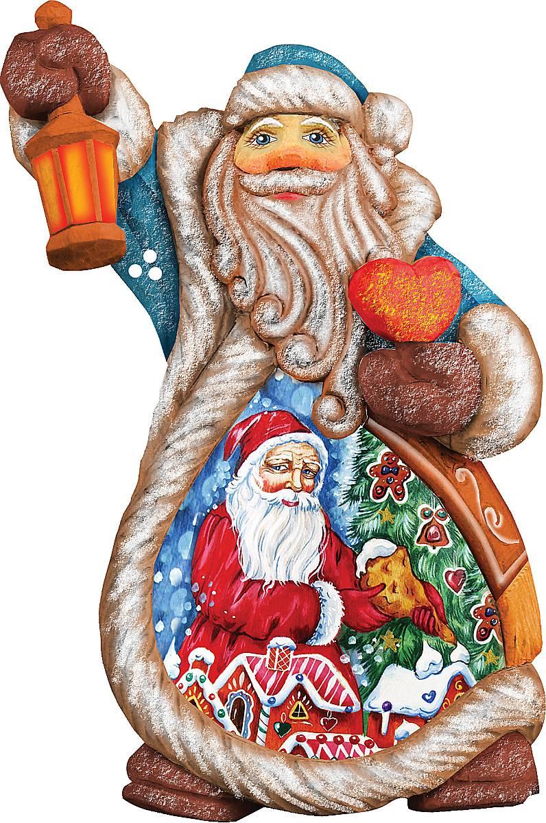 Украшение новогоднее подвесное Mister Christmas Дед Мороз, коллекционное, высота 10 см. US 6612111.645-504.0Коллекционное украшение Mister Christmas Дед Мороз прекрасно подойдет для праздничного декора вашего дома. Изделие выполнено из полистоуна и оснащено петелькой для подвешивания. Новогодние украшения несут в себе волшебство и красоту праздника. Они помогут вам украсить дом к предстоящим праздникам и оживить интерьер. Создайте в доме атмосферу тепла, веселья и радости, украшая его всей семьей.Кроме того, такая игрушка станет приятным подарком, который надолго сохранит память этого волшебного времени года.Высота украшения: 10 см.