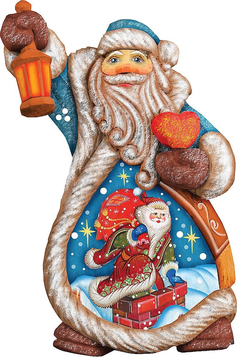 Украшение новогоднее подвесное Mister Christmas Дед Мороз, коллекционное, высота 10 см. US 661224NLED-454-9W-BKКоллекционное украшение Mister Christmas Дед Мороз прекрасно подойдет для праздничного декора вашего дома. Изделие выполнено из полистоуна и оснащено петелькой для подвешивания. Новогодние украшения несут в себе волшебство и красоту праздника. Они помогут вам украсить дом к предстоящим праздникам и оживить интерьер. Создайте в доме атмосферу тепла, веселья и радости, украшая его всей семьей.Кроме того, такая игрушка станет приятным подарком, который надолго сохранит память этого волшебного времени года.Высота украшения: 10 см.