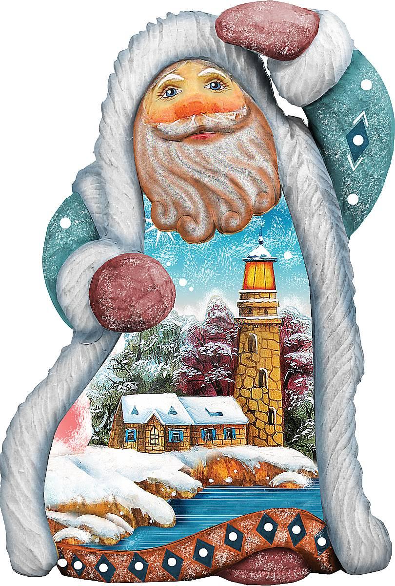 Украшение новогоднее подвесное Mister Christmas Дед Мороз. Дом с башней, коллекционное, высота 10 смNLED-454-9W-BKКоллекционное украшение Mister Christmas Дед Мороз. Дом с башней прекрасно подойдет для праздничного декора вашего дома. Изделие выполнено из полистоуна и оснащено петелькой для подвешивания. Новогодние украшения несут в себе волшебство и красоту праздника. Они помогут вам украсить дом к предстоящим праздникам и оживить интерьер. Создайте в доме атмосферу тепла, веселья и радости, украшая его всей семьей.Кроме того, такая игрушка станет приятным подарком, который надолго сохранит память этого волшебного времени года.Высота украшения: 10 см.