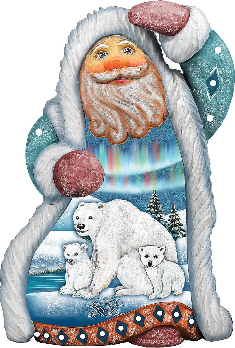 Украшение новогоднее подвесное Mister Christmas Дед Мороз. Белые медведи, коллекционное, высота 10 см97775318Коллекционное украшение Mister Christmas Дед Мороз. Белые медведи прекрасно подойдет для праздничного декора вашего дома. Изделие выполнено из полистоуна и оснащено петелькой для подвешивания. Новогодние украшения несут в себе волшебство и красоту праздника. Они помогут вам украсить дом к предстоящим праздникам и оживить интерьер. Создайте в доме атмосферу тепла, веселья и радости, украшая его всей семьей.Кроме того, такая игрушка станет приятным подарком, который надолго сохранит память этого волшебного времени года.Высота украшения: 10 см.