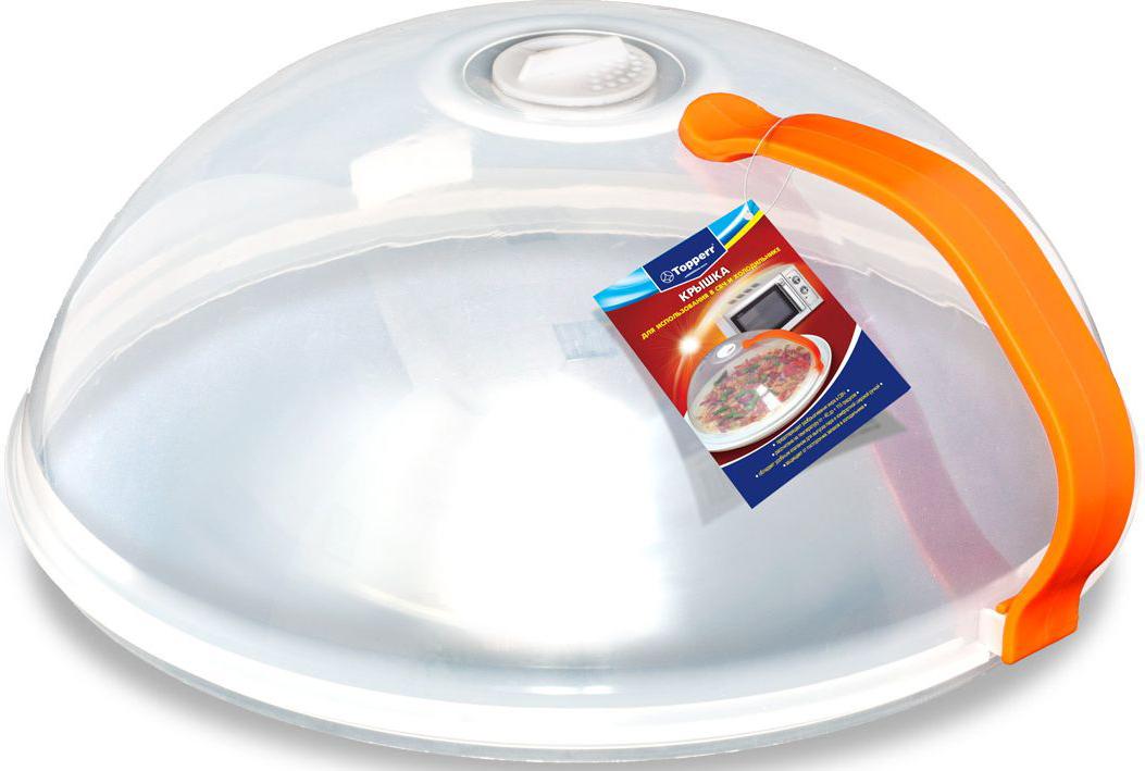 Крышка Topperr для СВЧ, с ручкой54 009303Крышка для использования в СВЧ и холодильнике- Предотвращает разбрызгивания жира в СВЧ- Защищает от посторонних запахов в холодильнике- Изготовлена из пищевого пластика- Рассчитана на температуру от -40 до +110 градусов- Обладает удобным клапаном для выпуска пара и комфортной широкой ручкой- Позволяет равномерно разогревать продукт- Не использовать в духовых шкафах газовых и электрических печей, а также в режиме гриль в СВЧ-печах.Диаметр - 26 смВысота - 11 см
