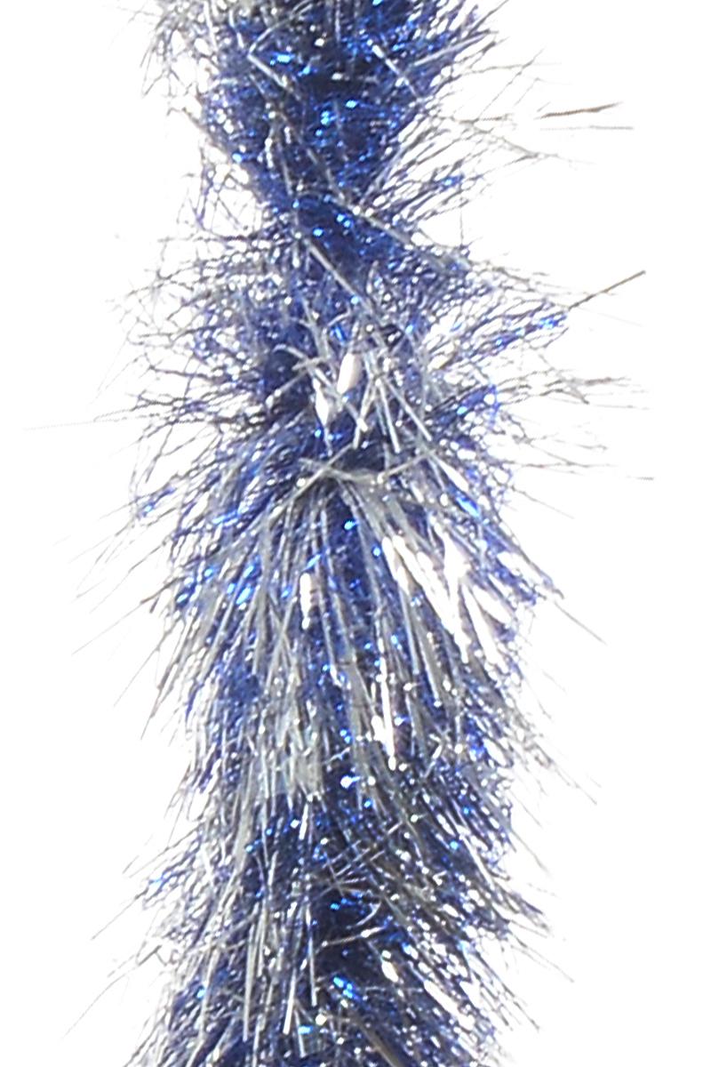 Мишура новогодняя Moranduzzo Спираль Экстра, цвет: серебристый, синий, диаметр 22 см, длина 2,5 мBH1050_Бантики_фиолетовый, серебристыйНовогодняя мишура Moranduzzo Спираль Экстра, выполненная из ПВХ, поможет вам украсить свой дом к предстоящим праздникам. Мишура армирована, то есть имеет проволоку внутри и способна сохранять форму.Новогодняя елка с таким украшением станет еще наряднее. Новогодней мишурой можно украсить все, что угодно - елку, квартиру, дачу, офис - как внутри, так и снаружи. Можно сложить новогодние поздравления, буквы и цифры, мишурой можно украсить и дополнить гирлянды, можно выделить дверные колонны, оплести дверные проемы.