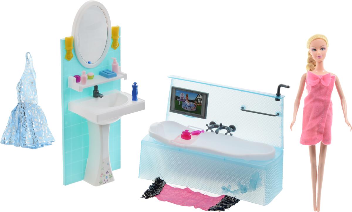 1TOY Игровой набор с куклой Ванная комната Стиль большого города, Solmar Pte Ltd