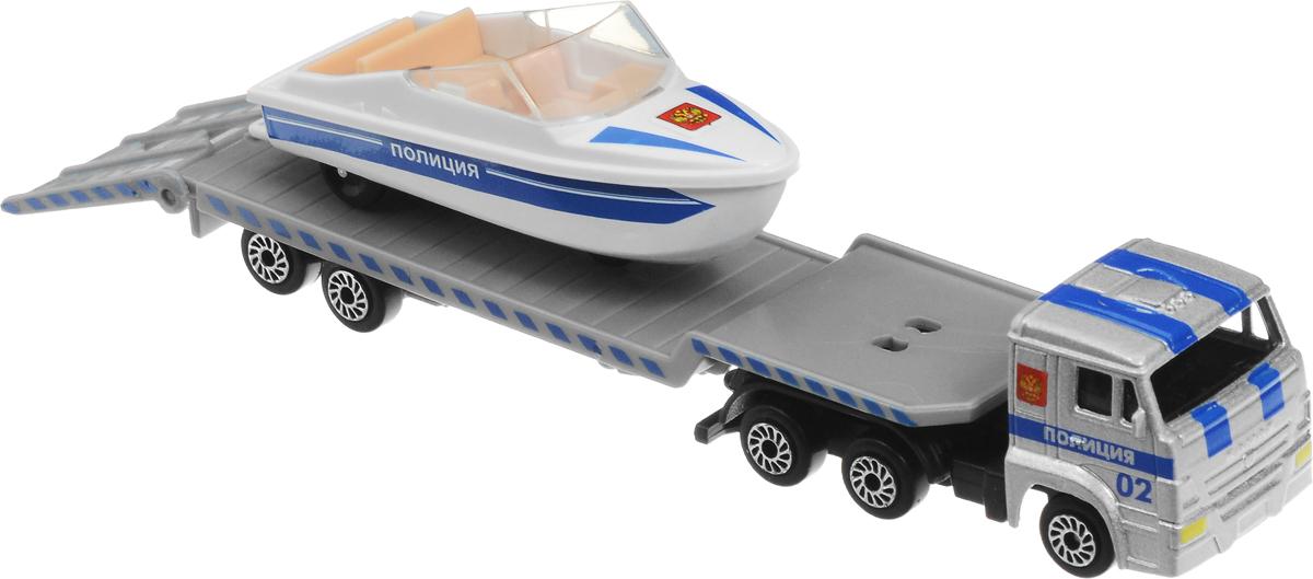 ТехноПарк Автотранспортер КамАЗ Полиция с лодкой куплю конверсионный камаз 4310 с тентом
