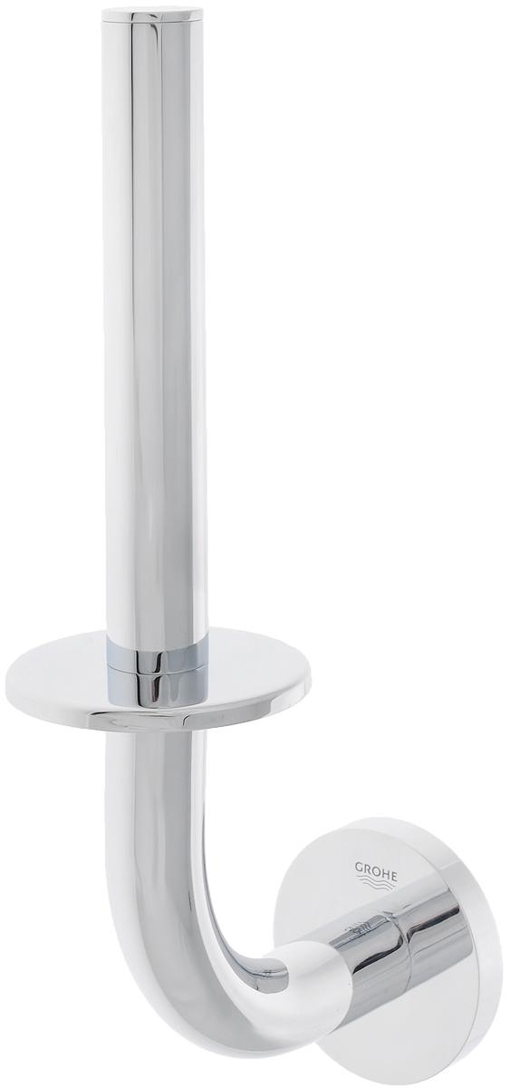 Держатель для запасного рулона туалетной бумаги Grohe Essentials68/2/3Держатель Grohe Essentials предназначен специально для запасного рулона туалетной бумаги. Изделие выполнено из высококачественного металла и имеет скрытое крепление. Благодаря строгому и лаконичному дизайну, а также ослепительному хромированному покрытию StarLight он будет великолепно смотреться в интерьере вашей ванной комнаты долгие годы.