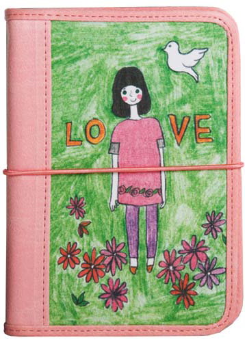 Обложка для паспорта Kawaii Factory Девочка-любовь, цвет: зеленый, розовый. KW064-000231W16-11128_323Обложка для паспорта от Kawaii Factory - оригинальный и стильный аксессуар, который придется по душе истинным модникам и поклонникам интересного и необычного дизайна.Качественная обложка выполнена из легкого и прочного ПВХ с приятной фактурой, который надежно защищает важные документы от пыли и влаги. Рисунок нанесён специальным образом и защищён от стирания.Изделие раскладывается пополам и закрепляется с внешней стороны на резиночку. Внутри размещены два накладных кармашка из прозрачного ПВХ.