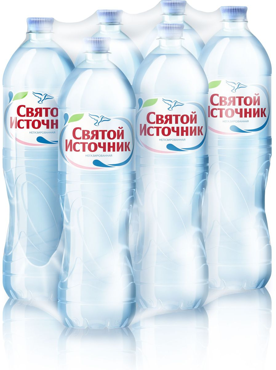 СвятойИсточникводаприродная питьевая негазированная, 6 шт по 1,5 л4603934001202Святой Источник – это природная питьевая вода, которая добывается из артезианских скважин, расположенных в заповедных местах российской природы.Тщательный подход к выбору источников позволяет использовать щадящие, современные методы фильтрации, которые не меняют природную структуру воды. Это позволяет сохранить в воде Святой Источник оптимальное содержание солей и микроэлементов, сохраняя всю пользу для человека.