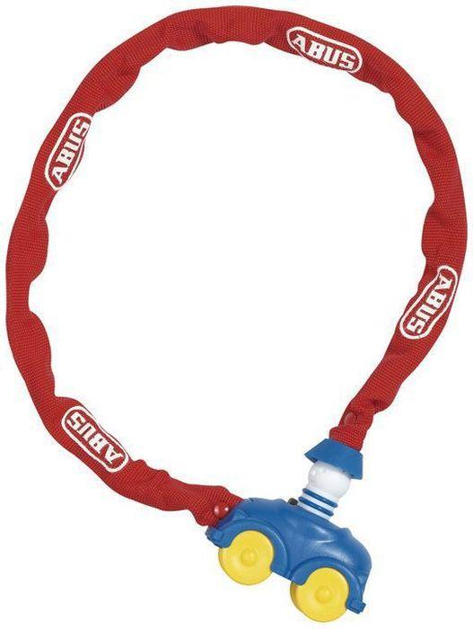Велозамок Abus My First 1510/60, с ключами, цвет: красный, синийWRA523700Замок велосипедный Abus My First выполнен в пластиковом чехле в виде машинки (специально разработанный дизайн для детей).У замка автоматическое закрывание. Рекомендуется для использования в условиях с низким риском хищения. Элементарный в использовании, яркий, с замком в виде игрушки - к этому велозамку идет еще и стильный чехол. Тип: трос с ключом (Kid Locks).Материал: Сталь в ПВХ оболочке.Длина(мм): 600.Толщина троса(мм): 4.Ключ: 2 штуки.Уровень защиты: 1 (стандарт).Вес: 300 г.Только для детей!