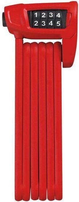 Велозамок Abus Bordo Combo Lite 6150/85, цвет: красный128189_ABUSВелозамок с хорошей степенью защиты. Стержни толщиной 5 мм со стальной сердцевиной покрыты пластиковой оболочкой для предотвращения повреждения краски на раме. Пластиковый чехол замка. Конструкция соединений позволяет компактно складывать замок. Стержни и корпус замка изготовлены из лёгких материалов и содержащего железо алюминиевого сплава и соединены специальными заклёпками. Кодовый замок с изменяемым кодом и цифрами повышенной износостойкости.