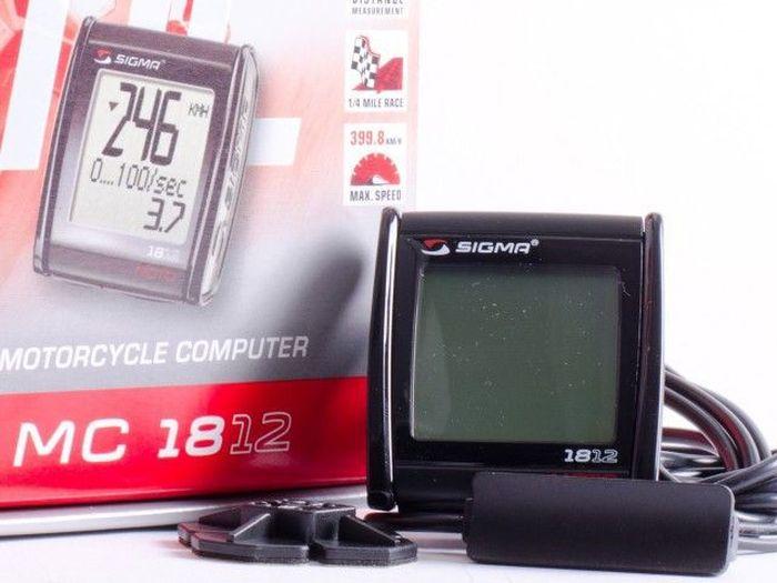 Мотокомпьютер Sigma Moto MC 18.12 Tecline, 18 функцийMABLSEH10001Функции: Дистанция заезда Время заезда Средняя скорость Максимальная скорость Измерение ускорения Замер тормозного пути Измерение ускорения при торможении Общее время поездок Общий пробегМаксимальная скорость 250 миль/ч или 399 км/ч
