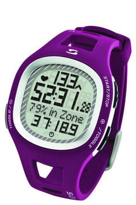 Пульсометр Sigma PC10.11, 10 функций, цвет: пурпурныйSIG_22132Пульсометр (кардиомонитор, монитор сердечного ритма) представляет из себя портативное устройство определяющее ваш пульс. Современные пульсометры снабжены и многими другими полезными функциями - подбор программы индивидуальной тренировки, определение максимальной скорости, беговой индекс, определение кол-ва сожженных во время тренировки калорий и пр. Особенности: влагозащищенный ЭКГ-точность 3 кнопки Функции: тренировочный менеджер с 1 программируемой зоной текущий, максимальный и средний пульс счетчик калорий время тренировки и время в процентах для каждой тренировочной зоны звуковой и визуальный индикатор зон индикация зарядки батарейки Комлектация: Часы-пульсометр Аналоговый нагрудный передатчик + ремень к нему Русская инструкция
