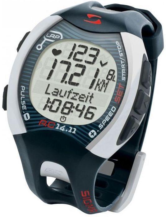 Пульсометр Sigma 14.11, c шагомером, цвет: серыйSIG_23113Пульсометр (кардиомонитор, монитор сердечного ритма) представляет из себя портативное устройство определяющее ваш пульс. Современные пульсометры снабжены и многими другими полезными функциями - подбор программы индивидуальной тренировки, определение максимальной скорости, беговой индекс, определение кол-ва сожженных во время тренировки калорий и пр. Характеристики пульсометра: Режим тренировки: Секундомер Расстояние (км) Скорость (км/ч или мин/км) Время бега Время круга/промежуточное время Средняя частота ритма сердца Максимальная частота ритма сердца Калории Остаточное время журнала Всего Ккал* Длина круга Средняя скорость Максимальная скорость Часы Общее расстояние Общее время бега С помощью RC 14.11 можно выполнять тренировки с кругами. Беговой компьютер сохраняет значения отдельных кругов или отрезков дистанции. После и во время тренировки можно просмотреть значения в режиме обзора круга.Комлектация: Беговой компьютер RC 14.11 батарея в комплекте. Приспособление для открытия крышки отсека для батареи. Нагрудный ремень ComFoRtex+ для измерения пульса и крепления передатчика R3. Передатчик R3 в комплекте с батареей для измерения скорости и пульса. Держатель HipClip для передатчика R3 для тренировки без измерения пульса, но с измерением скорости. Программное обеспечение DAtA CenteR 2. Док-станция с портом USB.