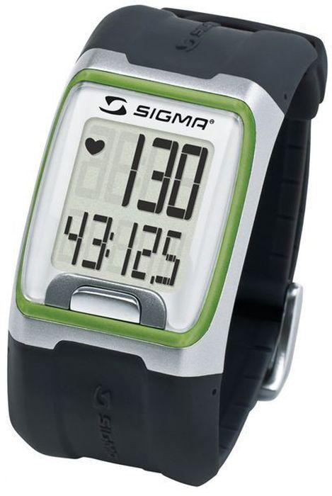 Пульсометр Sigma PC 3.11, цвет: зеленый, 3 функцииALC-MB10-3BALRU1-1Пульсометр (кардиомонитор, монитор сердечного ритма) Sigma PC 3.11 представляет из себя портативное устройство определяющее ваш пульс. Современные пульсометры снабжены и многими другими полезными функциями - подбор программы индивидуальной тренировки, определение максимальной скорости, беговой индекс, определение количества сожженных во время тренировки калорий и пр. Особенности:-влагозащищенный;-ЭКГ-точность;-большой экран и цифры;-управление одной кнопкой;-секундомер с десятыми долями секунды и возможность его использования без надевания нагрудного датчика.Функции:-пульс;-часы;-секундомер.Комплектация:-часы-пульсометр (3 функции);-аналоговый нагрудный передатчик + ремень к нему;-русская инструкция.