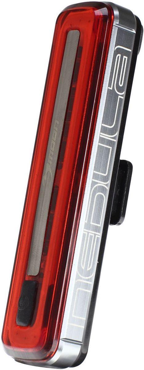 Фонарь задний Moon Nebula, 1 диод, 8 режимов, USBWP_COMET-R1 плата из 30 диодов в форме овала сверх яркое красное свечение Литий Полимер аккумулятор (3.7V 280 mAh) Алюмииевый корпус с отводом тепла USB пульт управления фонарем 8 режимов Стандарт / Высоко / Максимум/Полная мощность /10% вспышка/50% Вспышка /100% Вспышка /Стробоскоп Быстросъемное крепление RB-22 (установка на любой руль) 2 O-rings для крепления: RS-G (для 20-35mm диаметра); RS-H (для 35-52mm диаметра) Индикатор разряда, зарядки и полной зарядки аккумулятора Функция автоматического отключения при полной зарядке Боковая заметность Влагозащищенный (IPX 4) Влагозащищенный USB порт Возможность крепления на ремни (рюкзаки, багажные сумки и.тд) Размер:93 x 22 x 17 mm