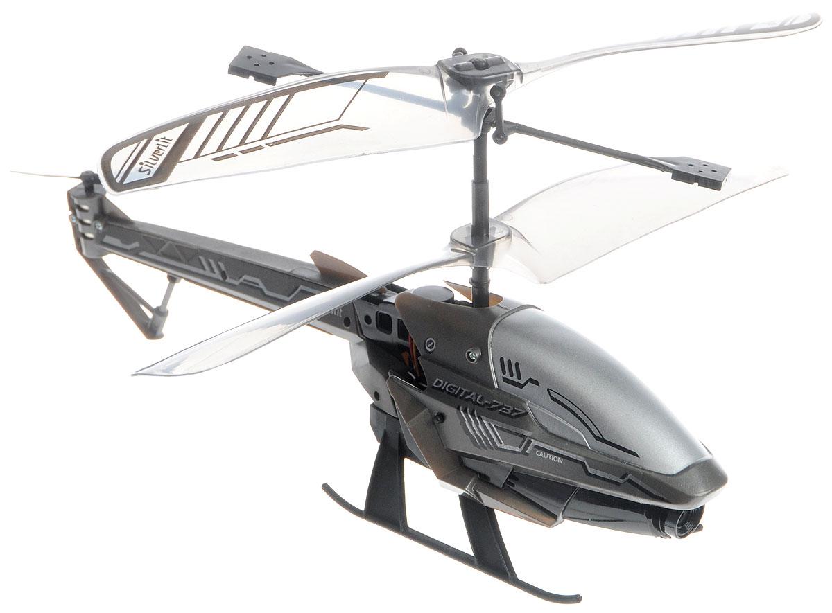 Silverlit Вертолет на инфракрасном управлении Spy Cam 3 цвет темно-серый silverlit digibirds пингвин фигурист с кольцом серый