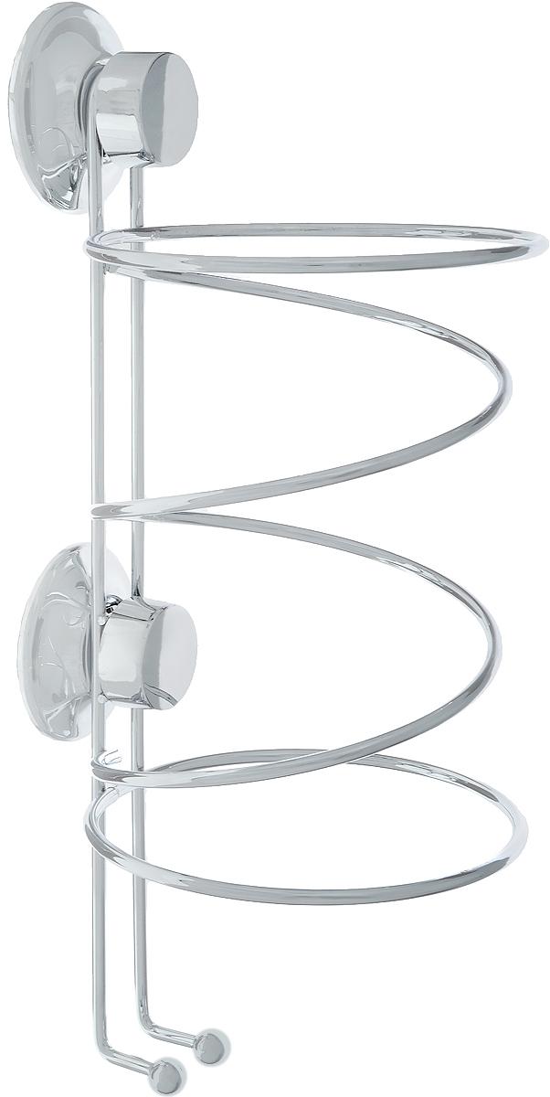 Держатель для фена Tatkraft Swiss Line, 12 см х 12 см х 26,5 см10204-TKДержатель для фена Tatkraft Swiss Line. Быстро и надежно устанавливается на любой воздухонепроницаемой поверхности. Классическая вакуумная система EVERLOC стала еще надежней благодаря:Мембране из натурального каучука,Силиконовому напылению,Винту Архимеда,Специальному кольцу для защиты от перекручивания винта. Характеристики: Диаметр присоски: 5,5 см. Размер держателя:12 см х 12 см х 26,5 см. Максималная нагрузка: 20 кг. Размер упаковки: 27 см х 12,5 см х 12,5 см.