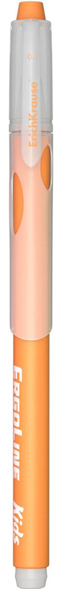 Erich Krause Ручка шариковая ErgoLine Kids цвет оранжевый 4154092922Эргономичная шариковая ручка Erich Krause ErgoLine Kids станет незаменимым помощником в учебе или работе.Ручка с уникальной технологией Ultra Glide, обеспечивающей великолепное мягкое письмо, позволяет долго и легко писать практически без усилий. Треугольный корпус ручки со специальными выемками обеспечивает удобный захват и препятствует скольжению пальцев при письме. Товар предназначен для письма на бумаге.Рекомендована для дошкольников и школьников младшего возраста.Диаметр шарика 0,7 мм.
