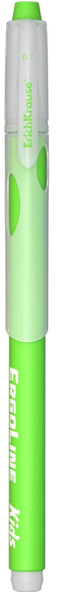 Erich Krause Ручка шариковая ErgoLine Kids цвет зеленый 4154072523WDЭргономичная шариковая ручка Erich Krause ErgoLine Kids станет незаменимым помощником в учебе или работе.Ручка с уникальной технологией Ultra Glide, обеспечивающей великолепное мягкое письмо, позволяет долго и легко писать практически без усилий. Треугольный корпус ручки со специальными выемками обеспечивает удобный захват и препятствует скольжению пальцев при письме. Товар предназначен для письма на бумаге.Рекомендована для дошкольников и школьников младшего возраста.Диаметр шарика 0,7 мм.