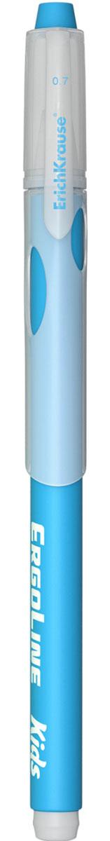 Erich Krause Ручка шариковая ErgoLine Kids цвет голубой 4154072523WDЭргономичная шариковая ручка Erich Krause ErgoLine Kids станет незаменимым помощником в учебе или работе.Ручка с уникальной технологией Ultra Glide, обеспечивающей великолепное мягкое письмо, позволяет долго и легко писать практически без усилий. Треугольный корпус ручки со специальными выемками обеспечивает удобный захват и препятствует скольжению пальцев при письме. Товар предназначен для письма на бумаге.Рекомендована для дошкольников и школьников младшего возраста.Диаметр шарика 0,7 мм.