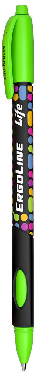 Erich Krause Ручка шариковая ErgoLine Life цвет зеленый 4154241544Эргономичная шариковая ручка Erich Krause ErgoLine Life станет незаменимым помощником в учебе или работе.Ручка с уникальной технологией Ultra Glide, обеспечивающей великолепное мягкое письмо, позволяет долго и легко писать практически без усилий. Треугольный корпус ручки со специальными выемками обеспечивает удобный захват и препятствует скольжению пальцев при письме. Товар предназначен для письма на бумаге.Рекомендована для дошкольников и школьников младшего возраста.Диаметр шарика 0,7 мм.