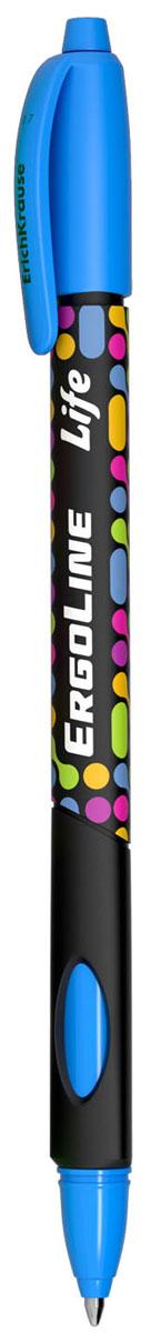 Erich Krause Ручка шариковая ErgoLine Life цвет голубой 4154241545Эргономичная шариковая ручка Erich Krause ErgoLine Life станет незаменимым помощником в учебе или работе.Ручка с уникальной технологией Ultra Glide, обеспечивающей великолепное мягкое письмо, позволяет долго и легко писать практически без усилий. Треугольный корпус ручки со специальными выемками обеспечивает удобный захват и препятствует скольжению пальцев при письме. Товар предназначен для письма на бумаге.Рекомендована для дошкольников и школьников младшего возраста.Диаметр шарика 0,7 мм.