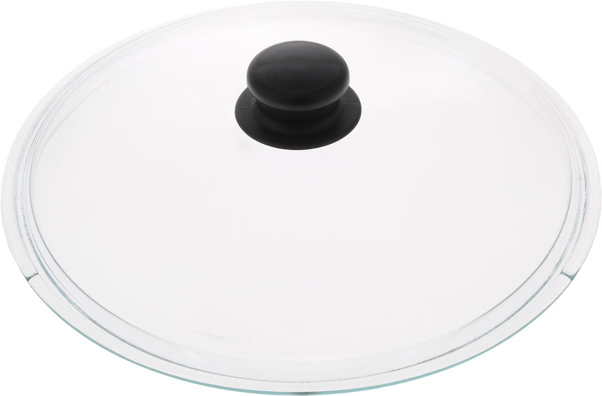 Крышка VGP. Диаметр 28 см54 009312Крышка VGP изготовлена из термостойкого и экологически чистого стекла с пластиковой ручкой. Изделие удобно в использовании и позволяет контролировать процесс приготовления пищи. Диаметр крышки: 28 см.Диаметр ручки: 4,5 см.Высота ручки: 2,5 см.