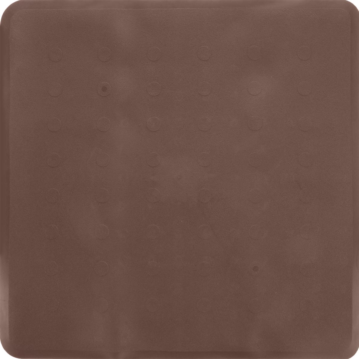 Коврик для ванной Ridder Basic, противоскользящий, на присосках, цвет: коричневый, 51 х 51 см531-105Коврик для ванной Ridder Basic, изготовленный из каучука с защитой от плесени и грибка, создает комфортное антискользящее покрытие в ванне. Крепится к поверхности при помощи присосок. Изделие удобно в использовании и легко моется теплой водой.